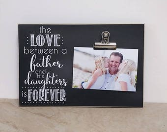 Daddy Daughter Picture Frame Christmas Gift Idea Birthday For Dad Valentines Day Wall Father