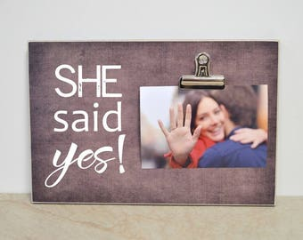 She Said Yes Frame Etsy
