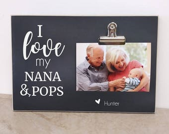 Personalized Pregnancy Reveal to Grandparents, Gift For Grandparents,  Baby Announcement, Pregnancy Announcement  {I LoVE MY...}