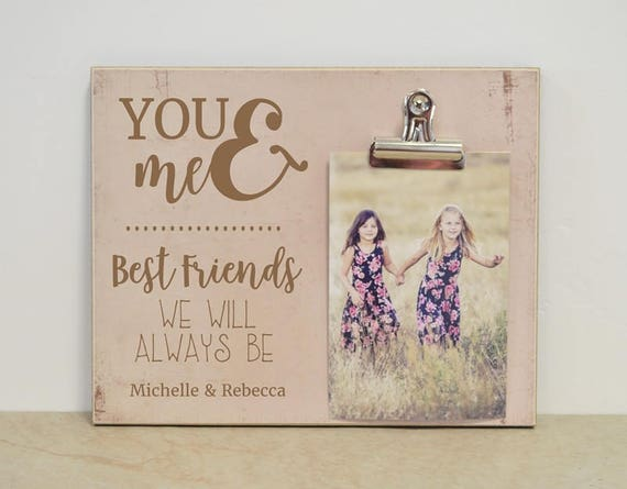 Best Friend Photo Frame You & Me Picture Frame Personalized | Etsy