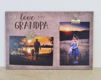 Personalized Grandpa Photo Frame, Father's Day Gift For Grandpa, Custom Picture Frame, Grandpa Gift, Grandchildren Photo Frame, Wood Frame