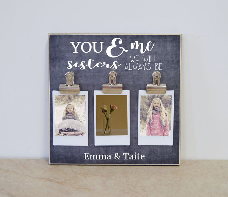 Personalized Picture Frame Birthday Gift For Sister Polaroid