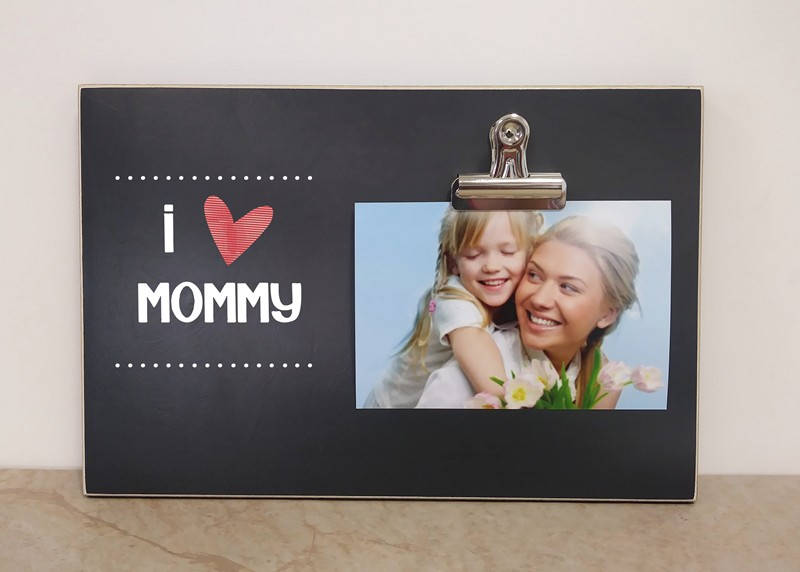 Mother\'s Day Frame Gift For Mom, PERSONALIZED Picture Frame {I HEART ...