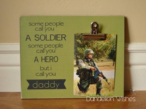 Army Gift  {Home Of The Free Because Of The Brave}  Picture Frame Deployment Gift for Soldier Military Gift Navy Gift Photo Frame