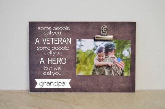 Cadeau du jour de l'ancien combattant, cadeau cadre Photo personnalisé pour vétéran, vétéran cadeau, cadre photo personnalisé, cadeau de Noël pour grand-papa, cadeau pour vétérinaire