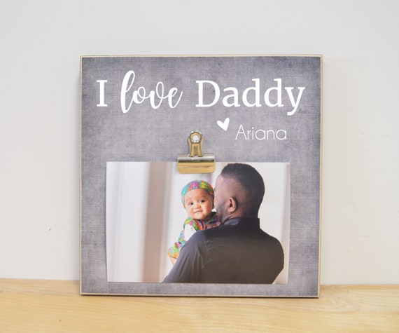 Personalized Photo Frame Daddy Frame Christmas Gift For Dad Etsy