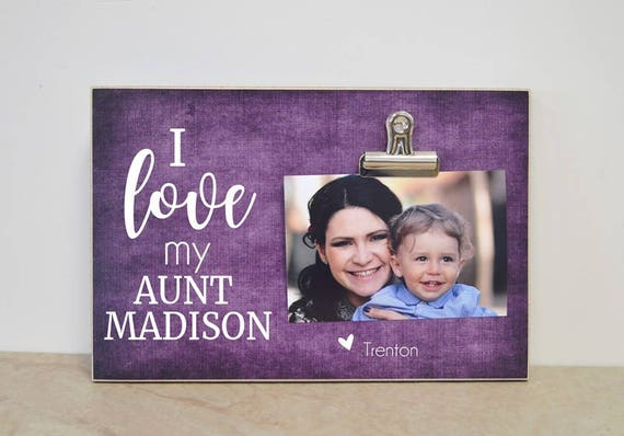 Personalized Aunt Gift I Love My Aunt Xxx Photo Frame Etsy