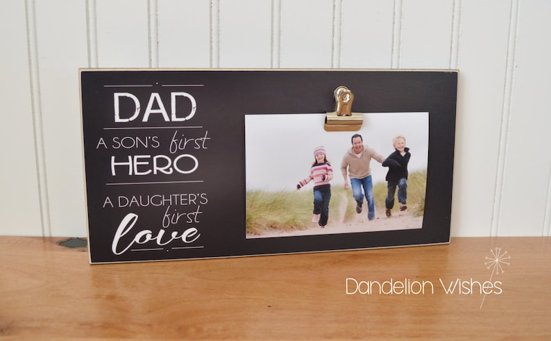 Photo Frame Gift For Dad A Sons First Hero