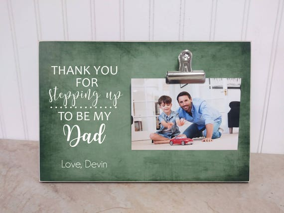 Stepdad Gift Personalized Photo Frame For Stepfather