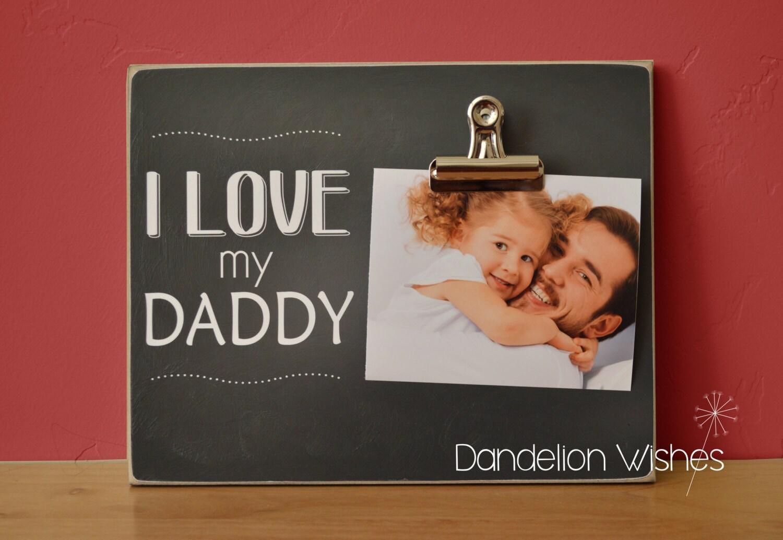 Personalisierte Foto-Clip Rahmen Daddy Geschenk ich liebe | Etsy