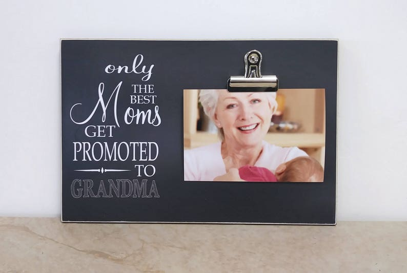 Baby Reveal Idea Pregnancy Announcement Photo Frame Mom