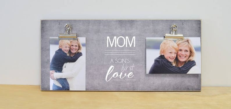 Mother Son Frame Wall Picture Frame Mother/'s Day Gift For Mom {Son/'s First Love} Photo Frame Personalized Birthday Gift Mom Gift