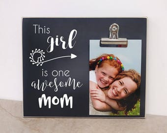 Personalized Photo Frame Gift for Mom  {One Awesome Mom}  Custom Gift For Mom, Mom's Birthday, Mother's Day Gift Idea, Mom Picture Frame