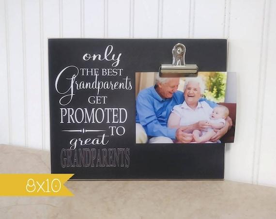 Seulement les meilleurs grands-parents promus arrière-grands-parents, cadre Photo grand-parent, cadeau pour les grands-parents; La grossesse révèlent cadre photo