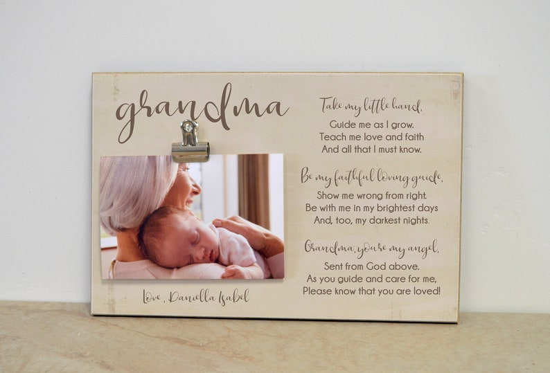 Grandma Photo Frame With Poem Gift For Birthday