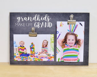 Grandparents Picture Frame, Grandchildren Photo Frame, Mother's Day Gift For Grandma {Make Life Grand} Custom Gift For Grandparents, Grandma