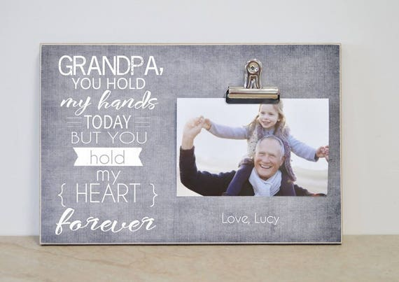 Personalized Photo Clip Frame Gift For Grandpa