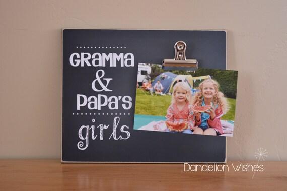 Cadeau pour les grands-parents, cadre Photo personnalisé, cadre photo personnalisé, cadre de tableau, cadre en bois, idée cadeau fête des mères, Noël