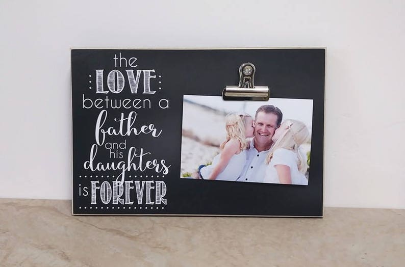 Daddy Daughter Picture Frame Fathers Day Gift Idea