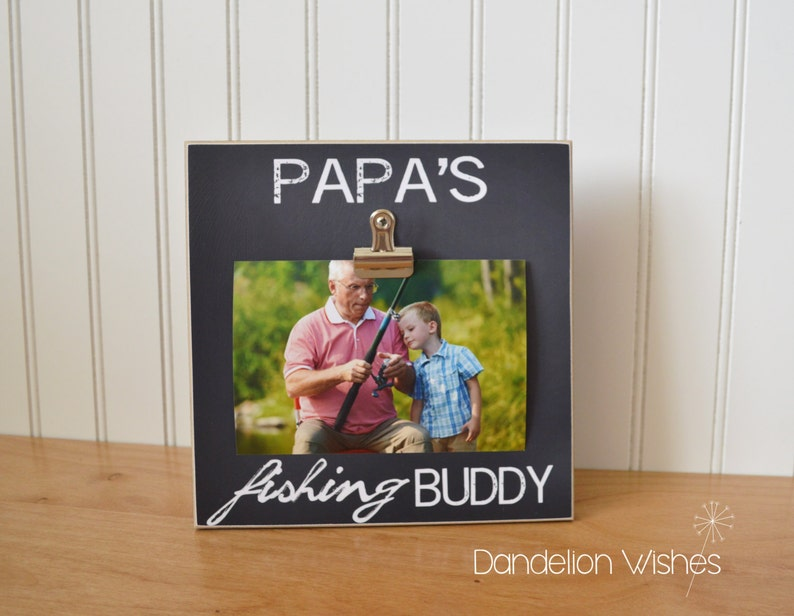 Download Custom Photo Frame Papa S Fishing Buddy Personalized Picture Frame Father S Day Gift For Grandpa Fisherman Frame Gift Idea For Grandpa Frames Photography