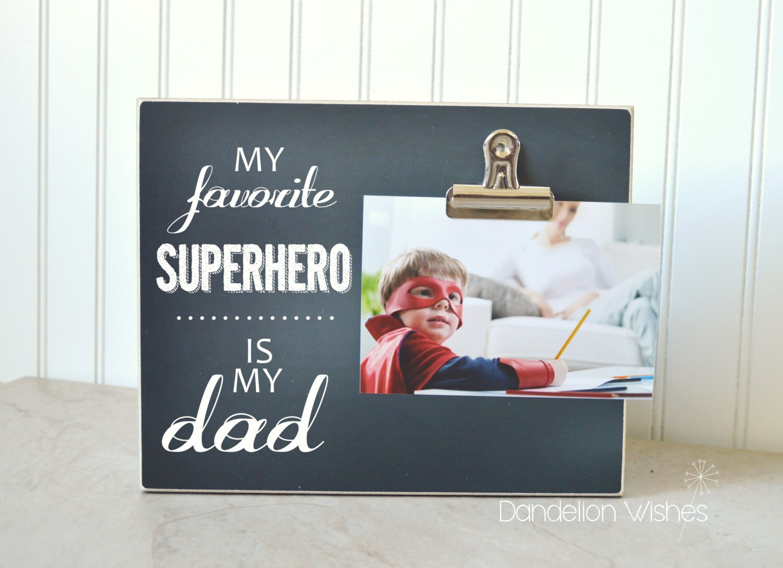 Superheld Papa Bilderrahmen meine Lieblings-Superhelden...   Etsy