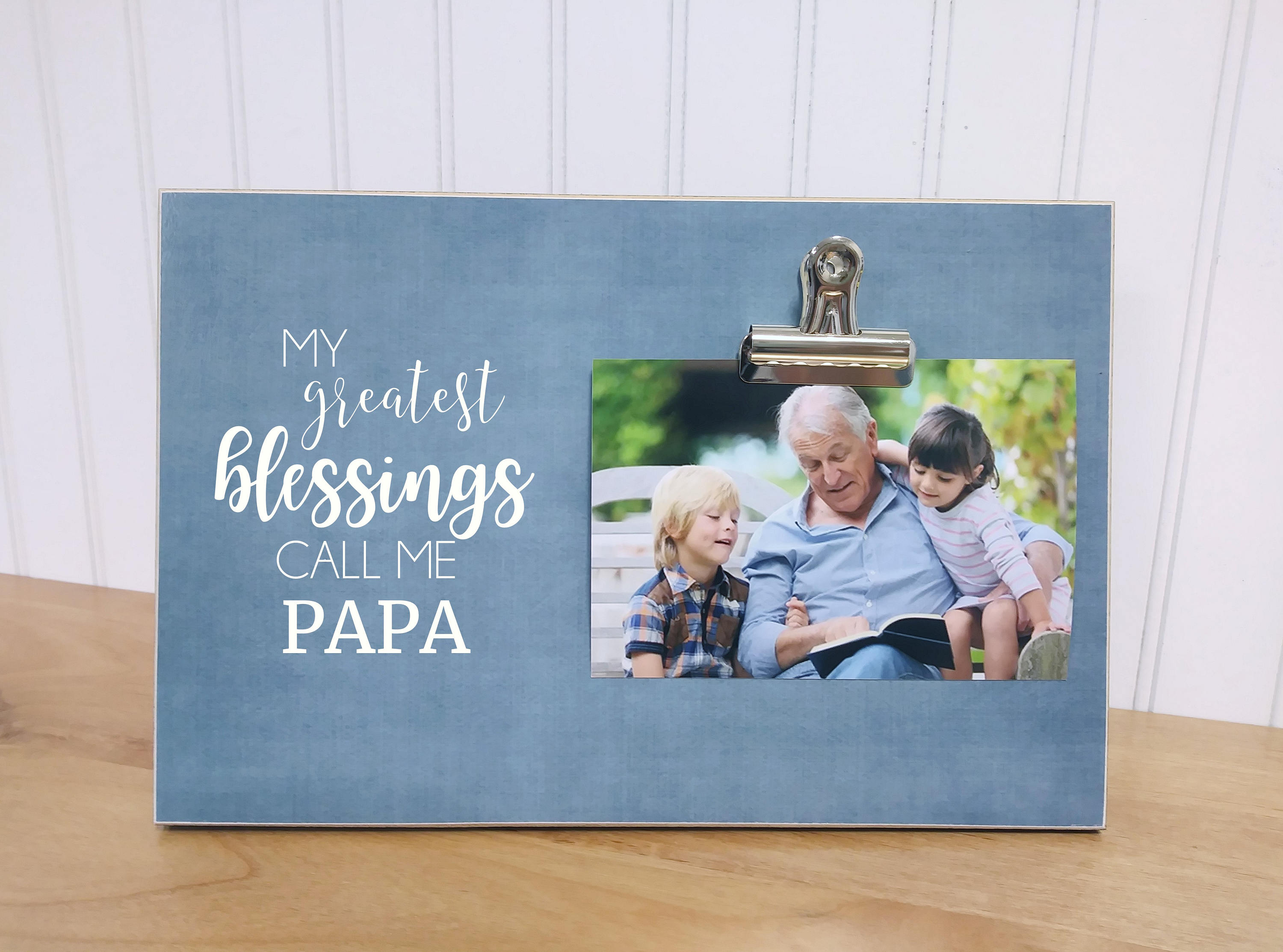 Father\'s Day Gift For Grandpa Grandchildren Photo Frame | Etsy