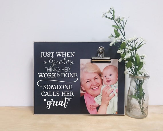 Grandma Photo Frame Gift For Great Birthday