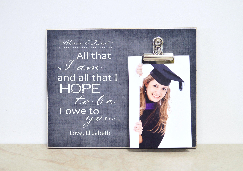 Abschluss-Bilderrahmen danke Geschenk für Eltern oder Mentor | Etsy