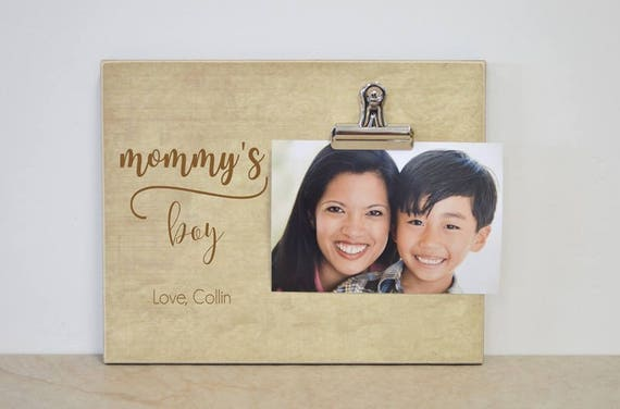 Mom Picture Frame Mommys Boy Mother And Son Frame Etsy