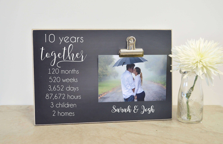 10 Jahre Hochzeitsgeschenk Jubiläum Photo Frame 5   Etsy