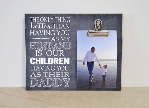 Photo Frame Gift For Dads Birthday Present Dad Wood