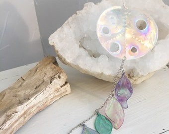 Sun Catcher, Hanging Ornament, Peace Sign, Dream Catcher, Wall Hanging, Home Decoration, Unique Gift, Fairy Wings, Prism Crystal