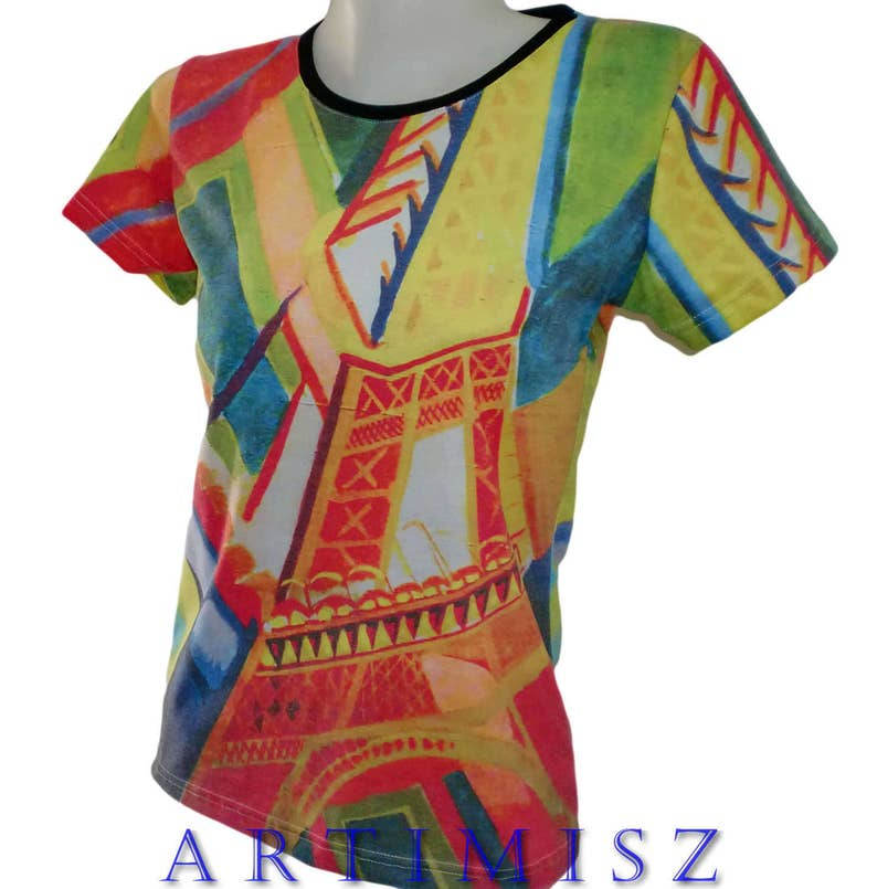 Artimisz Robert Delaunay 1926 Eiffel Handmade T-Shirt Fine Art Print Cubism  Abstract S M L XL