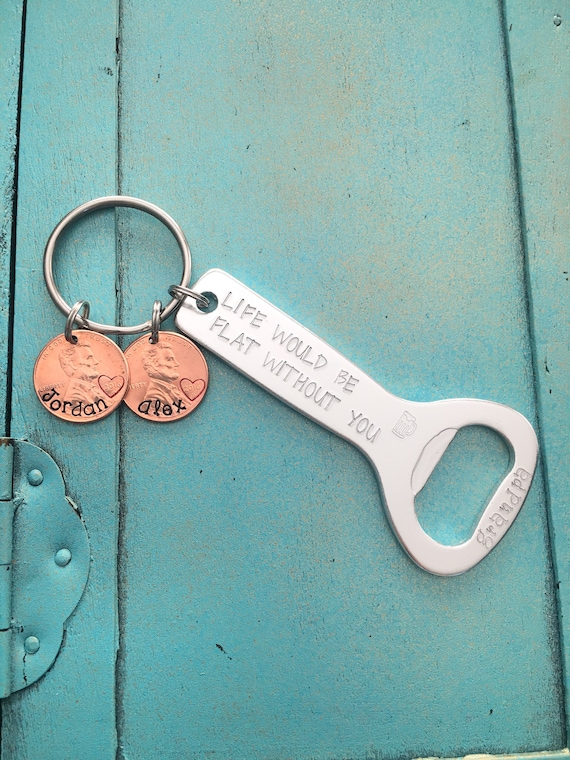 Personalised No.1 Bottle Opener Keyring Father/'s Day Birthday Gift For Men Dads