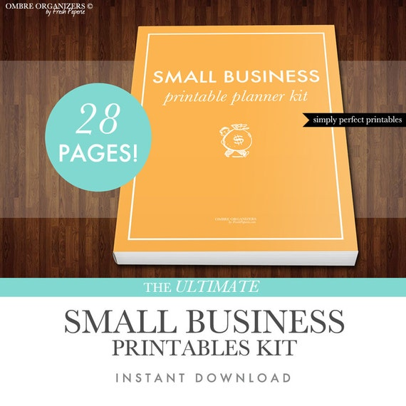 small business planner printables kit pdf letter size etsy