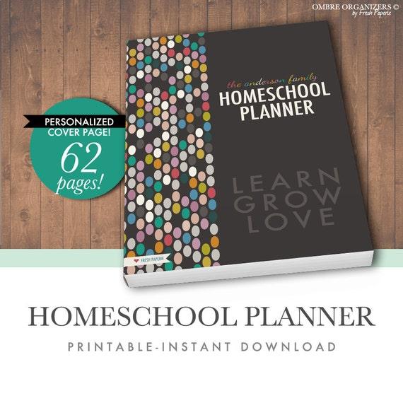 sale 30 off printable homeschool planner letter size pdf etsy rh etsy com