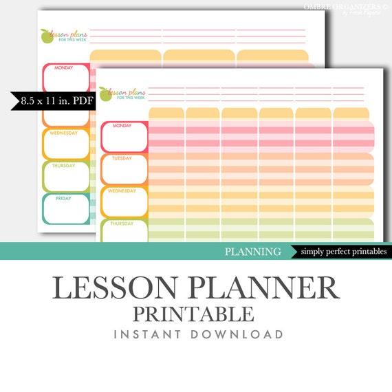 lesson planner printable teacher planner planning binder etsy