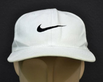 ec8c0d21 Nike Hat Vintage Nike Baseball Cap 90s Nike Snapback 6 Panel One Size Fits  All