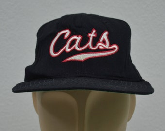 f01fc566e Cats Hat Vintage Cats New Era Pro Model Hat New Era Vintage Full Hat Made  in USA Size 7 1 8