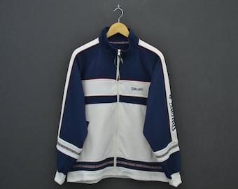 Spalding Jacket Men Size M/L Vintage Spalding Track Top 90s Spalding Vintage Colorblock Activewear