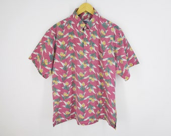cac79675 Reyn Spooner Shirt Vintage Reyn Spooner Half Button Down Hawaiian  Traditionals Reyn Spooner Casual Hawaiian Shirt Mens Size L/XL