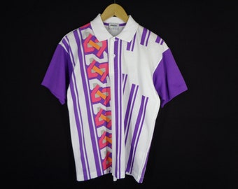 366e73f3 Mizuno Shirt Vintage Mizuno Polo Shirt Vintage 90s Mizuno Tennis Collection  Colorblock Made in Japan Polo Shirt Size M