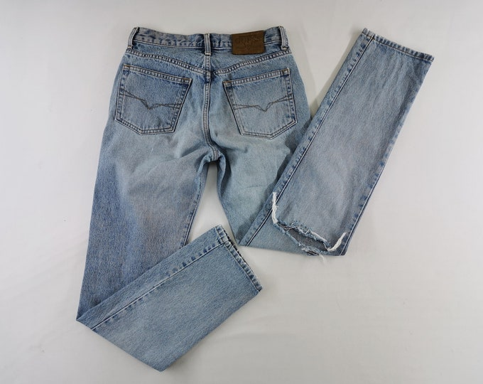 Guess Jeans Distressed Vintage Guess Denim Pants Vintage Guess Made In USA Button Fly Denim Jeans 2829x31.5