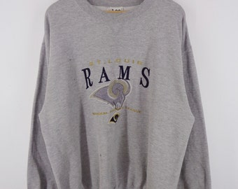 e8eb15b3f St. Louis Rams Sweatshirt Vintage St. Louis Rams Pullover 90s St. Louis  Rams Vintage NFL Sweat by Lee Sport Mens Size L XL
