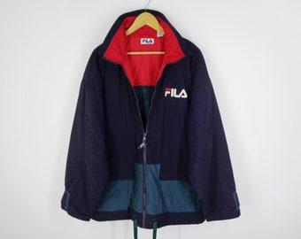 Items similar to Fila Windbreaker Vintage Fila Jacket Fila