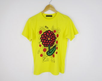 2cf965716f 24 hour TV collaboration Yayoi Kusama x Satoshi Ohno Shirt Vintage 24 Hour  Television Love Forever Shirt Made In Japan Size S