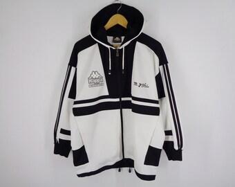 974556af9a Kappa Jacket Vintage Kappa Track Jacket Vintage 90s Kappa Vintage Color  Block Hoodie Track Jacket Activewear Mens Size M