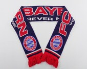 Bayern Munich Football Club Scarf Vintage Bayern Munich Wool Muffler Bayern Munich Scarves Plaid Pattern Shawl Body Wrap 56 quot X 6 quot