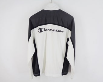 1c04dd66a9669 Champion Jacket Vintage Champion Track Top 90s Champion Spell Out Vintage  Casual Activewear Mens Size M