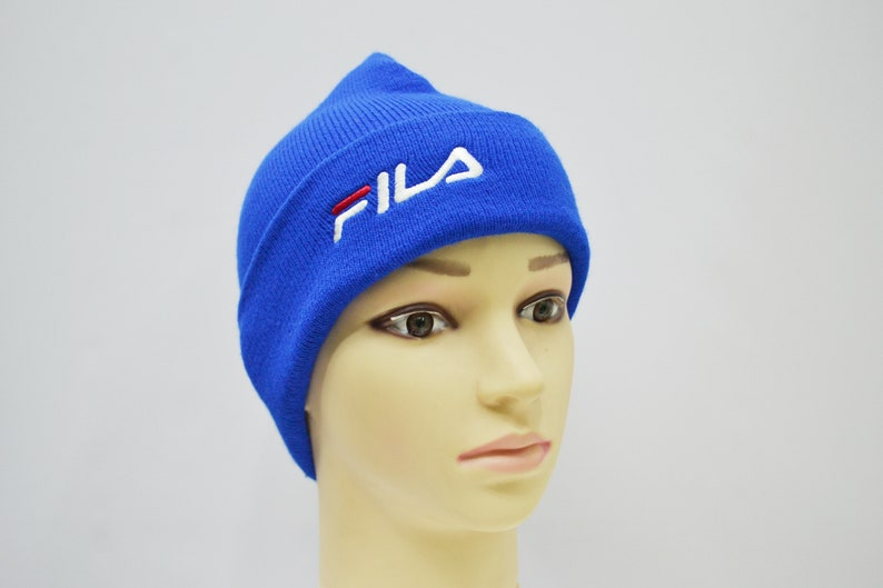 Fila Beanie Fila Winter Hat Vintage Fila Big Logo Hat Fila  1d17b80a14a